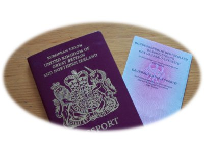 British Passport and Daueraufenthaltskarte