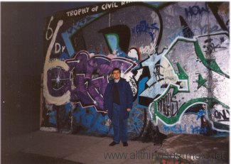 In front of the Berlin Wall in November 1996