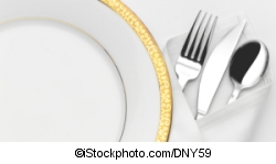 Plate with cutlery - ©iStockphoto.com/DNY59
