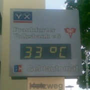 33° in Oberursel today