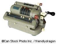 A mechanical calculator - ©Can Stock Photo Inc. / friendlydragon