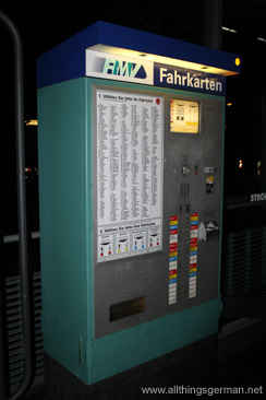 A ticket machine in Oberursel