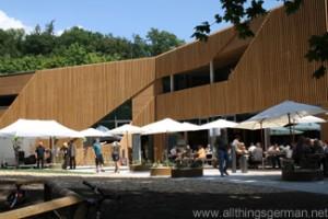 Taunus Informationszentrum (TIZ) - rear view and Waldtraud restaurant