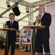 Volker Bouffier answered citizens' questions at the Hessentag