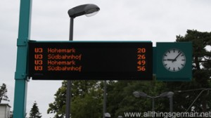 U-Bahn Information on Whit Monday at 9.05am during the Hessentag