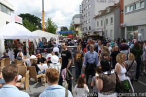 The Adenauerallee in Oberursel on Whit Monday during the Hessentag