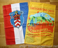 Oberursel and Hessentag flags
