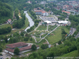 Aerial view of part of the Neckarblühen Garden Show in Horb am Neckar 2011
