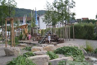 Water playground at the Neckarbluehen Garden Show in Horb am Neckar 2011