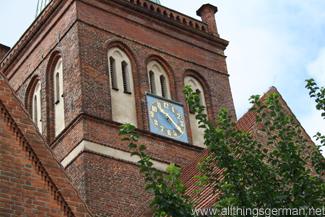 The Marienkirche Clockface with 61 minutes in Bergen auf Rügen