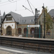 Oberursel's shiny new (restored) station building