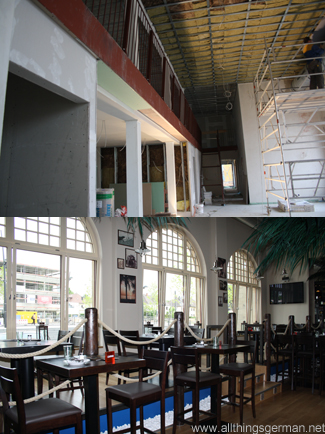 Oberursel Station - The Lounge before and after