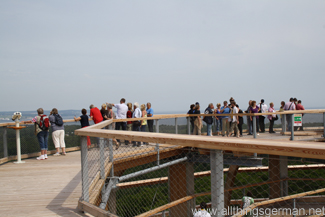 The viewing platform at the top of the tower