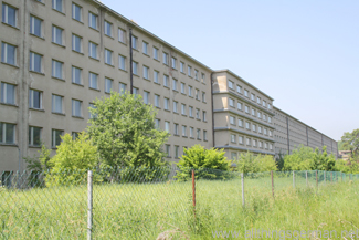 The seaward side of the building in Prora