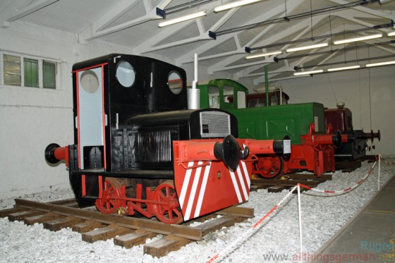 Shunters and industrial locomotives at the Railway and Technical Museum on Rügen