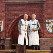 Konrad von Jungingen (Marco Bahr) and Johann von Pfirt (Norbert Braun)