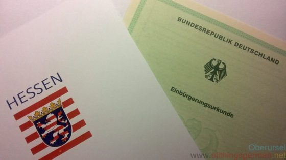 German Citizenship Document - Einbürgerungsurkunde