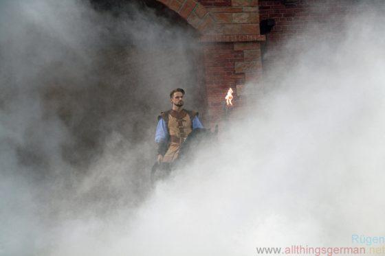 Klaus Störtebeker (Bastian Semm) coming out of the fog