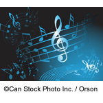 Blue musical notes - Can Stock Photo Inc. / Orson