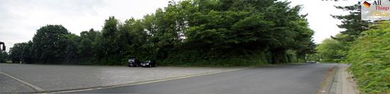 Swimming pool car park - panorama photo
