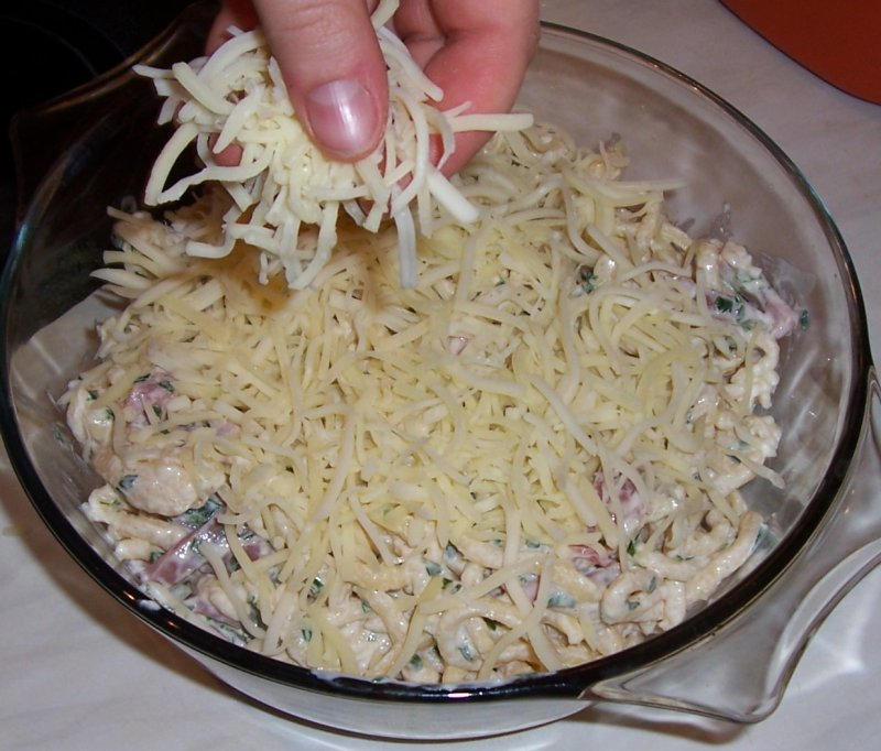 cover with grated cheese