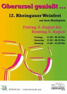 Oberursel Weinfest 2012 poster