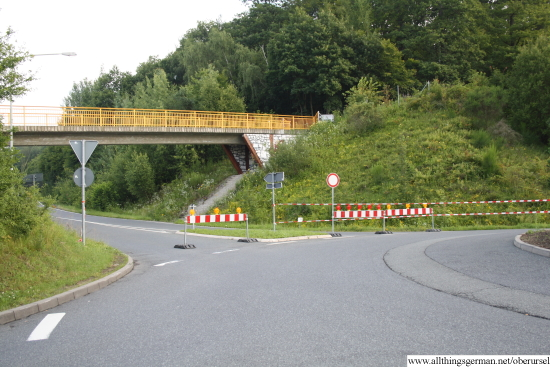 The Kanonenstrasse at the Hohemark roundabout on Wednesday 18th July 2012