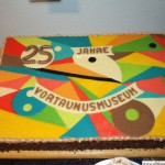 A birthday cake for the Vortaunusmuseum's 25th anniversary