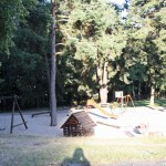 The playground next to the paddling pool