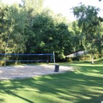 The volleyball area