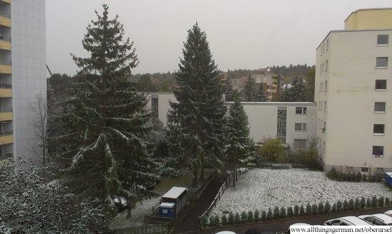 Snow in Oberursel - 27th October 2012