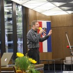 Dr. Fabian Vogt singing a song from the Ursella musical