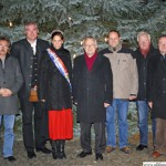 Opening the Christmas Market: Wolfgang Bräutigam, Harry Hecker, Vanessa I., Hans-Georg Brum, Thorsten Schorr, Winfried Abt, Christoph Müllerleile