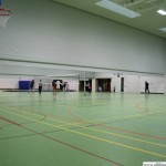 The underground sports hall with 3 courts