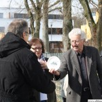Manfred Kopp presenting Stefan Kuhn with a Mountain Lodge plate