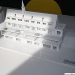 The model for the re-development of the building, southern face
