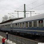 Historic carriages in Oberursel station