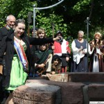 The inauguration of the Storchenbrunnen