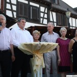 Visitors from Rushmoor: Mayor Terry Bridgemann, Mayoress Pamela Edwards,Andrew Lloyd, Hilary Lloyd