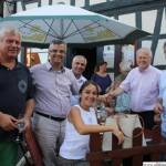 Visitors from Kusadasi (Turkey): Deputy Mayor Murat Sarac (2nd from left) with his wife,with Jörg Steden, Savas Köktas, Hans-Georg Brum, Udo Keidel-George