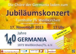 German and Tontauben concert flyer