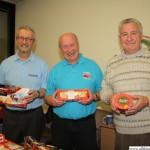 Visitors from Rushmoor: Frank Rust, Bill Barron and Brian Fagg