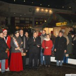 The Christmas Market being officially opened