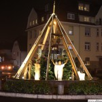 The Christmas Pyramid at the Homm-Kreisel roundabout