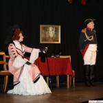 Lieutenant von Hettwitz (Martin Krebs) asking Countess von Schimmelpfenning (Anna Altheim) for permission to marry her daughter, Elisabeth