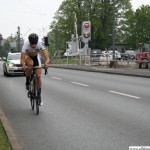 The first of the Junioren passes Camp King during the cycle race on Thursday, 1st May, 2014