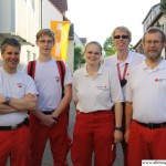 One of the Red Cross teams in the Obere Hainstrasse