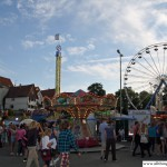 The fun fair on the Bleiche