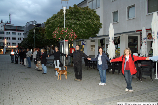 Part of the chain in the Kumeliusstrasse