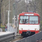 Nr. 303 (towing 304 and 305) entering Oberursel station